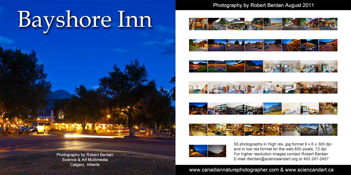 Bayshore Inn DVD cover of Photographs by Robert Berdan ©