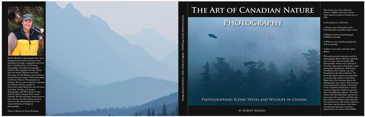 The Art of Canadian Nature Photography cover deisgn by Robert Berdan ©