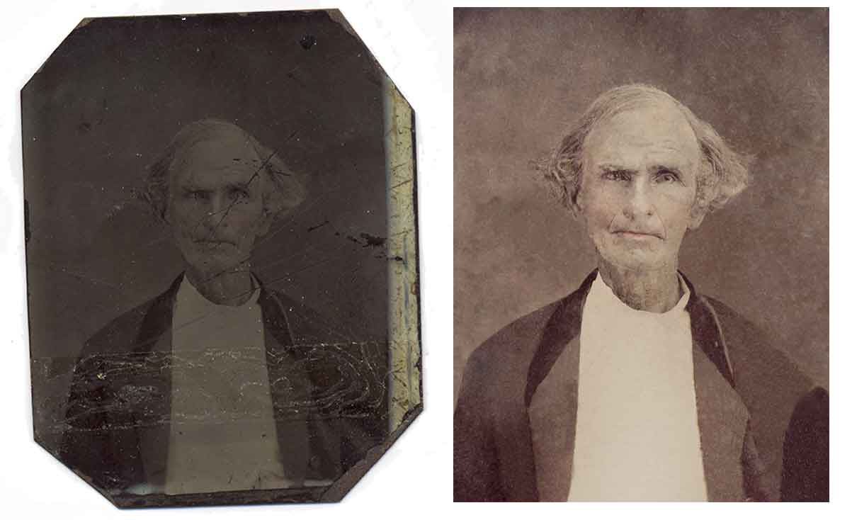 daguerreotype digitally restored by Robert Berdan