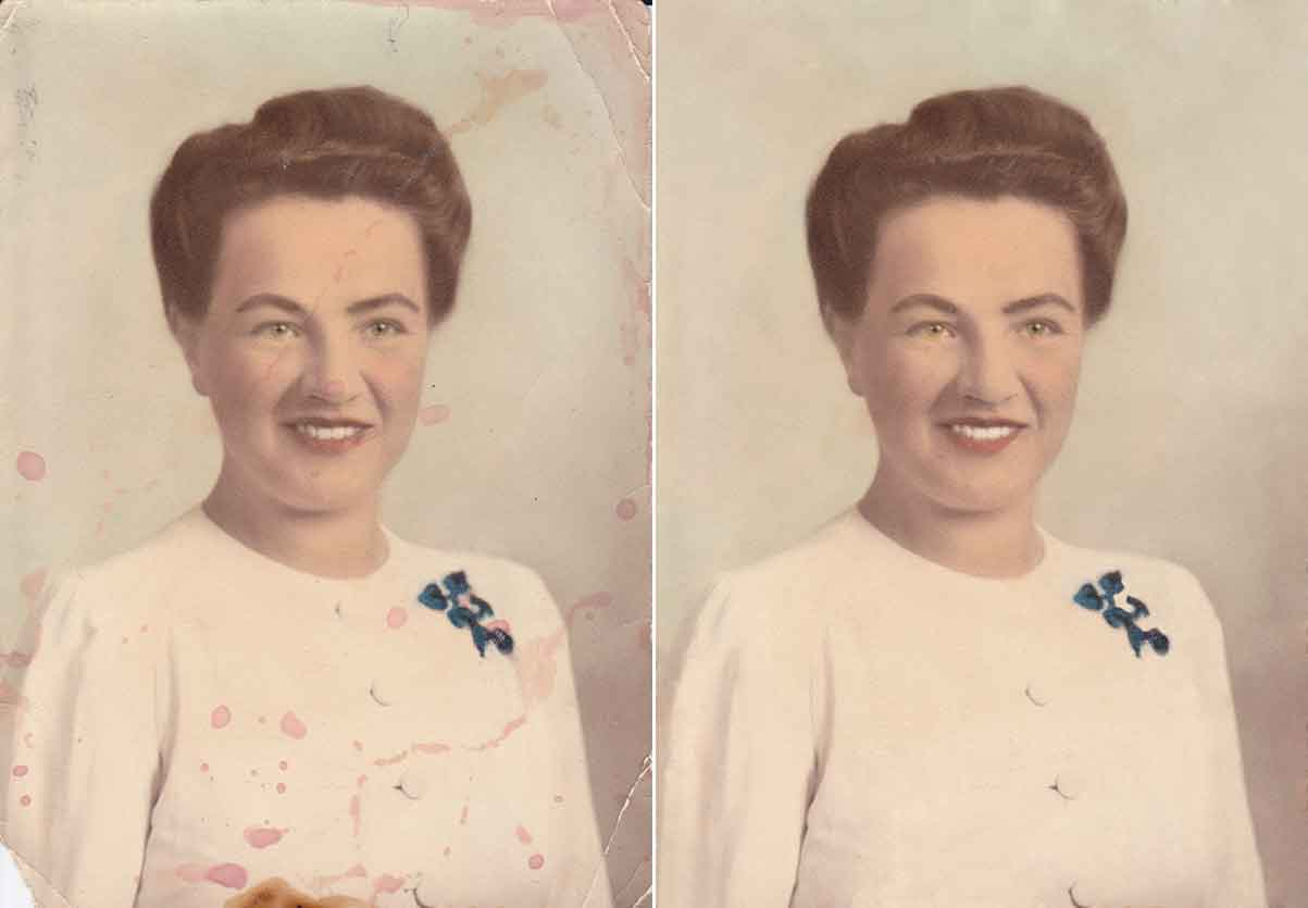 Hand coloured photographed digitally restored by Robert Berdan