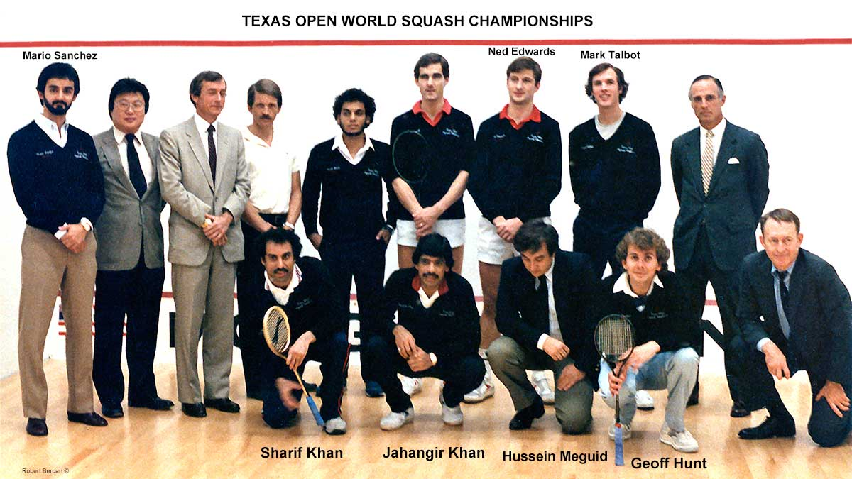 Texas word squash championships by Robert Berdan ©